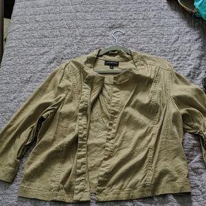 Lane Bryant Khaki Summer Jacket 22